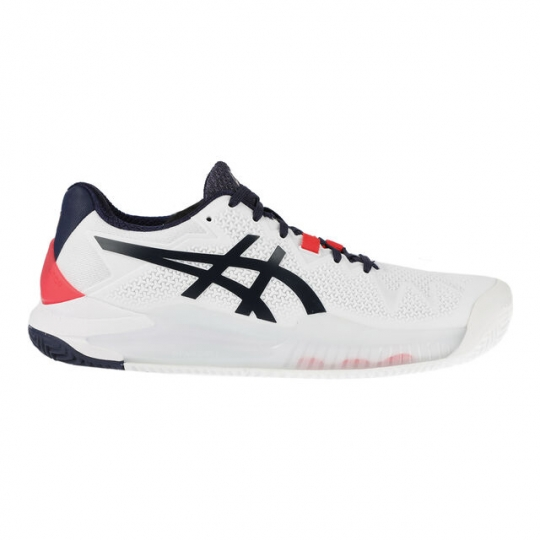 Asics Gel Resolution 8 Clay Court Bele Tamno Plave Ženske patike za tenis